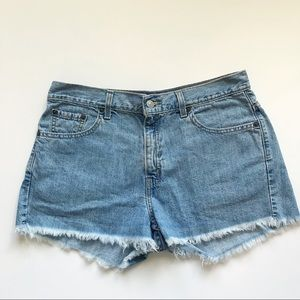 Levi's Denim High Rise Cut Off Shorts